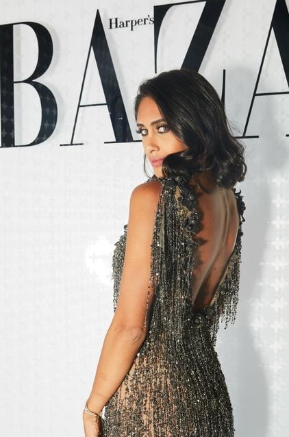 إنجي كيوان في فستان من Maison Yeya