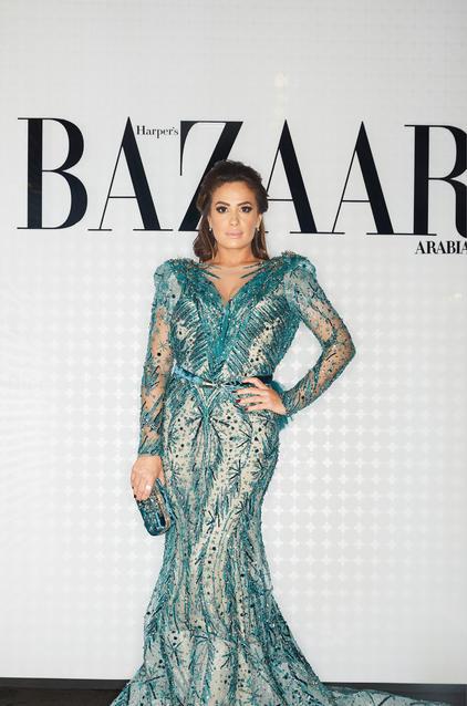 هند صبري في فستان من تصميم زياد نكد