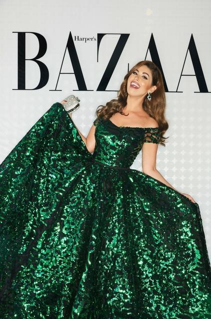 مي سليم في فستان من تصميم يوسف الجاسمي