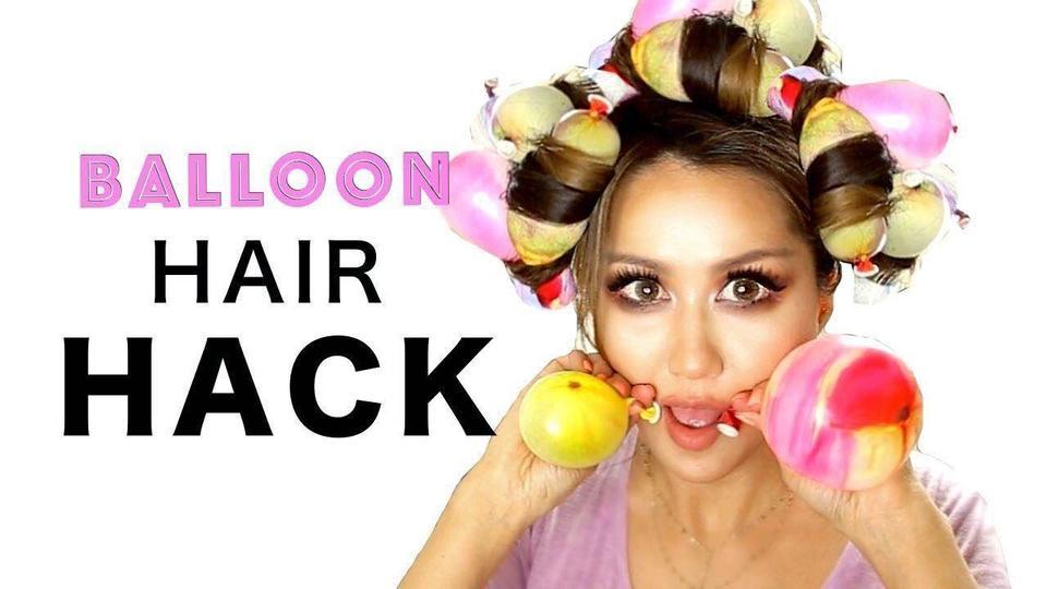 استخدمي البالون للحصول على شعر مموج!