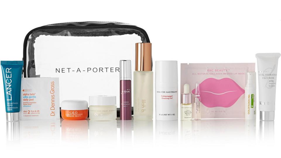 يطلق موقع NET-A-PORTER حقيبة العناية بالبشرة The Ultimate Skincare Kit ليمسح عناء أول العام