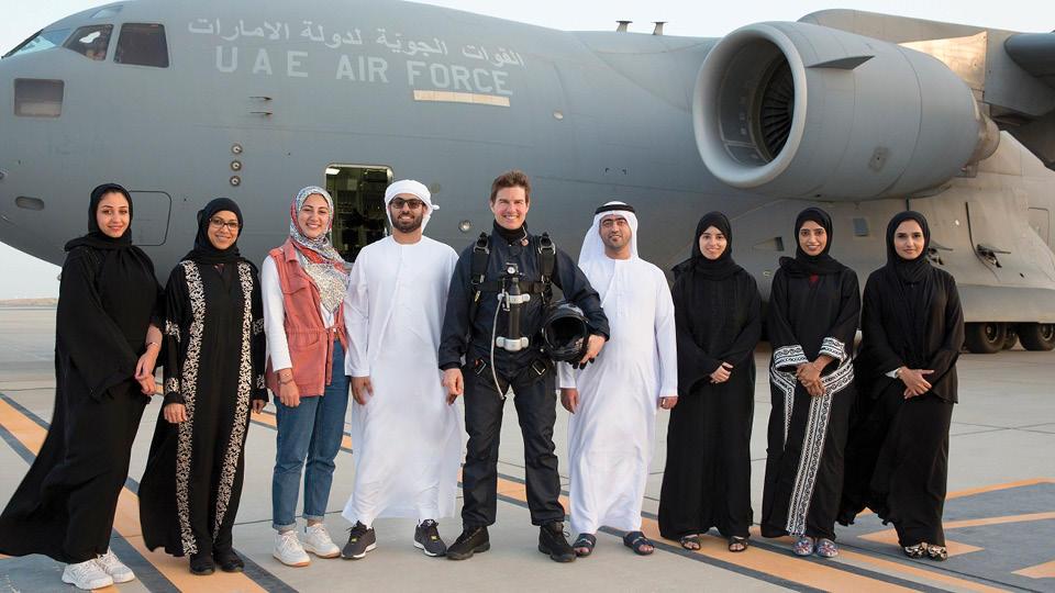 الممثل العالمي توم كروز في مهمة مستحيلة أخرى ولكن هذه المرة في أبوظبي