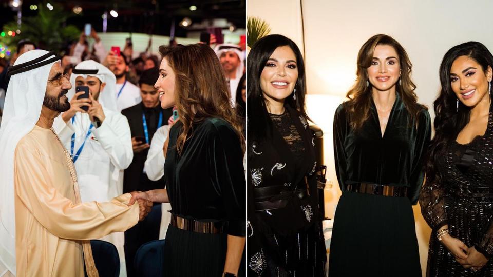 """الملكة رانيا العبدالله تستلم جائزة """"شخصية العام المؤثرة"""" في التواصل الاجتماعي.."""