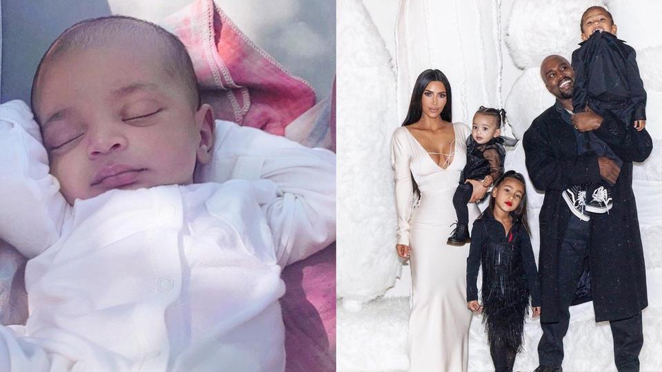 كيم كارداشيان تنشر أول صورة لطفلها الرابع سالم ويست
