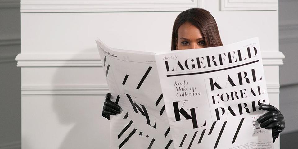 لوريال باريس ودار كارل لاغرفيلد تطلقان مجموعة من مسحضرات التجميل