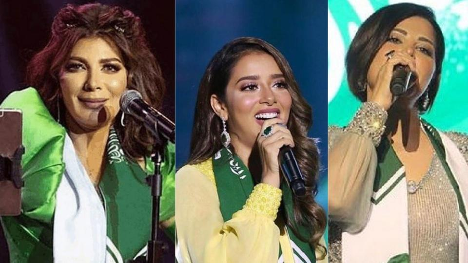 نجوم العالم العربي يحتفلون بالعيد الوطني السعودي
