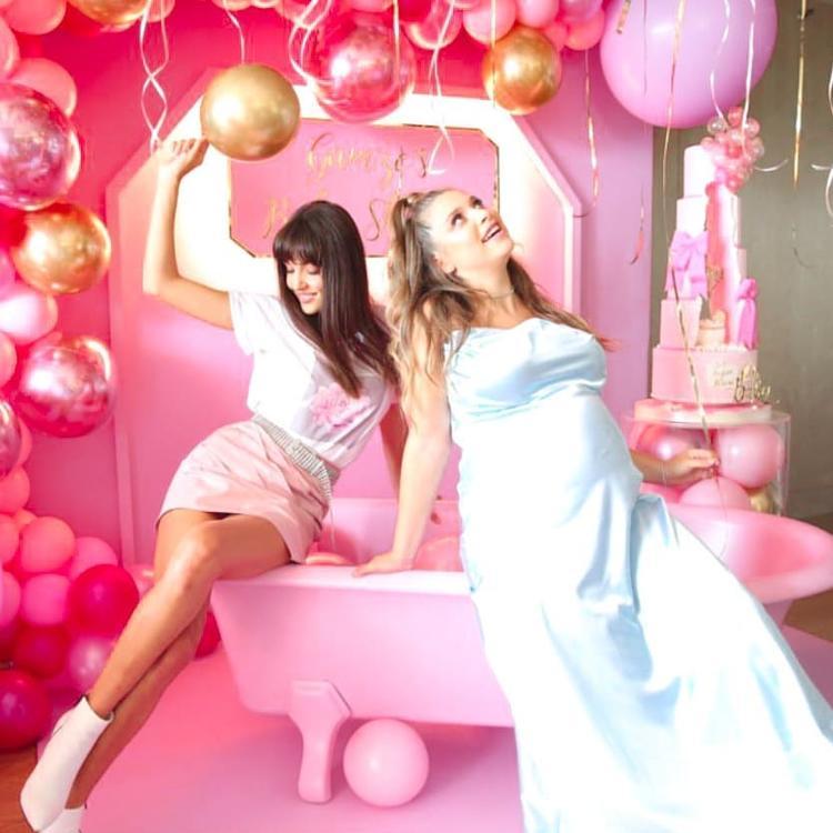 شاهدي: هاندا أرتشيل ترقص احتفالاً بمولود شقيقتها القادم