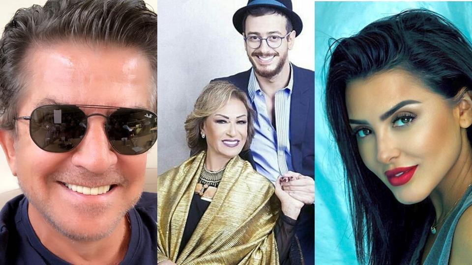 الفنان وليد توفيق مع فاتي جمالي ووالدة سعد المجرد