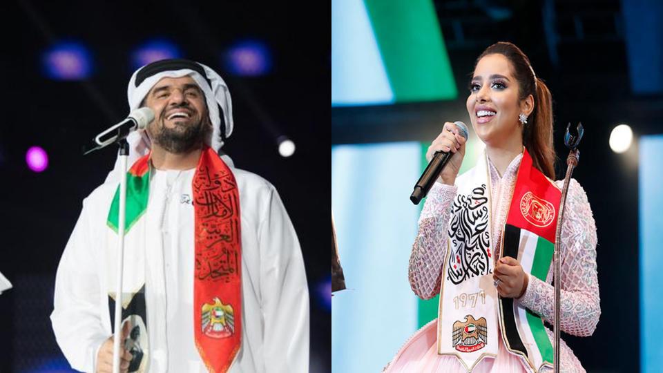 بلقيس وحسين الجسمي يحييون احتفالات العيد الوطني الإماراتي