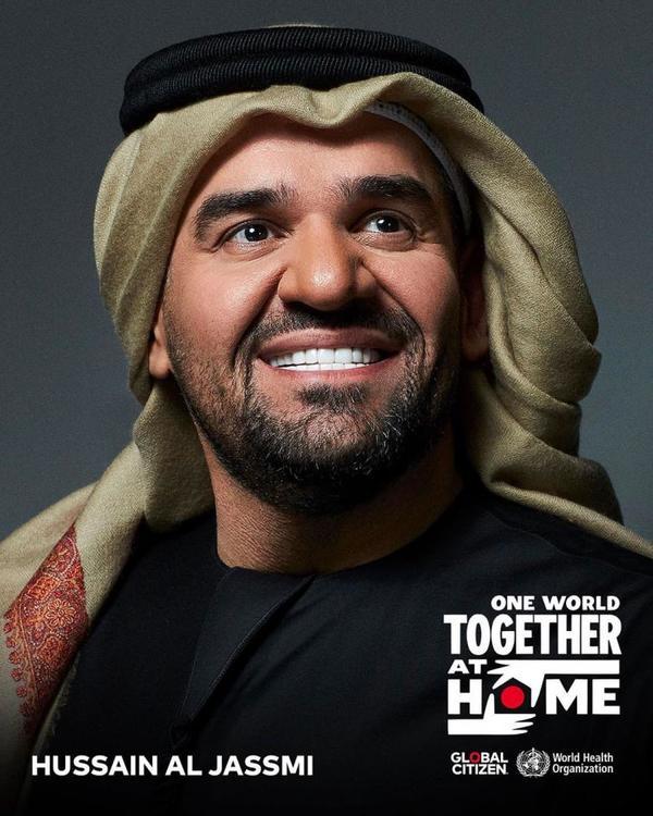 حسين الجسمي النجم العربي الأول الحفل الذي تقدمه بيبسي لتجمع النجوم من المنازل