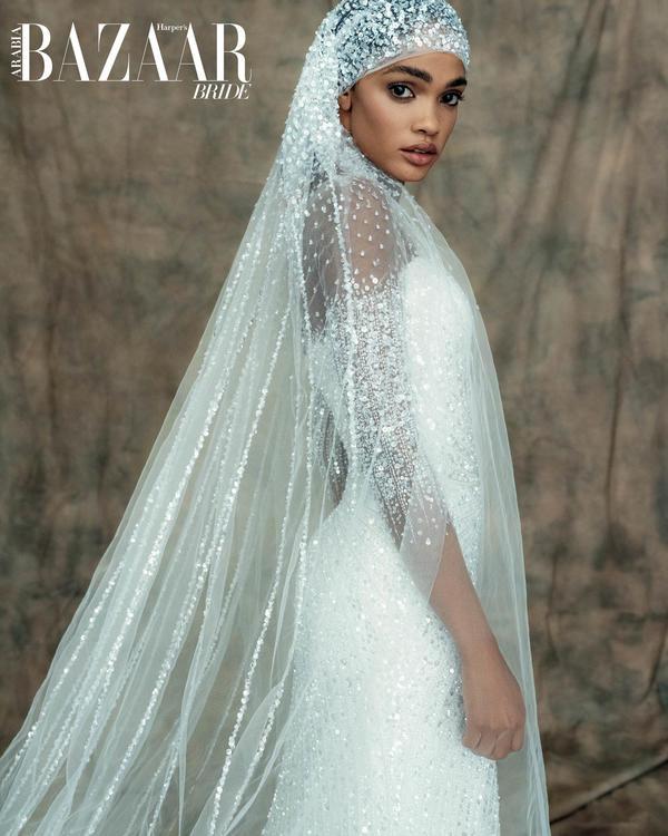 قصائد الحب: تعد فساتين زفاف علامة حناين للأزياء الراقية بمثابة حلم عرائسي أصبح حقيقة