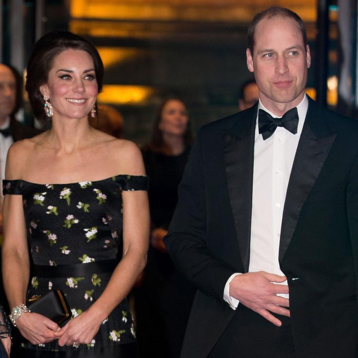 الأمير ويليام والأميرة كيت يتألقان على السجادة الحمراء في حفل Bafta 2017