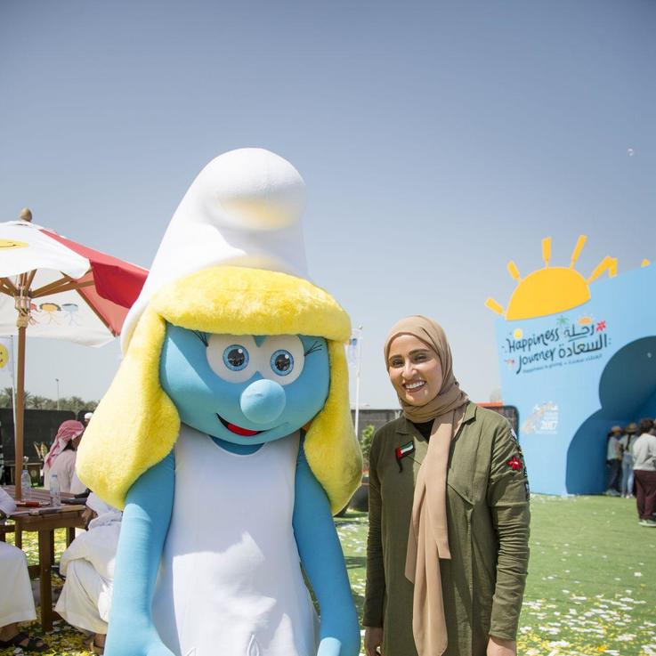 الأمم المتحدة واليونيسف ونخبة من نجوم فيلم ''Smurfs' يحتفلون باليوم العالمي للسعادة