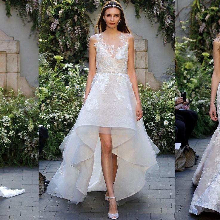 اجعلي من زفافك أسطورة ربيعية لا تكرر مع تصاميم مونيك لولييه Monique Lhuillier لربيع/صيف 2017 في ESPOSA