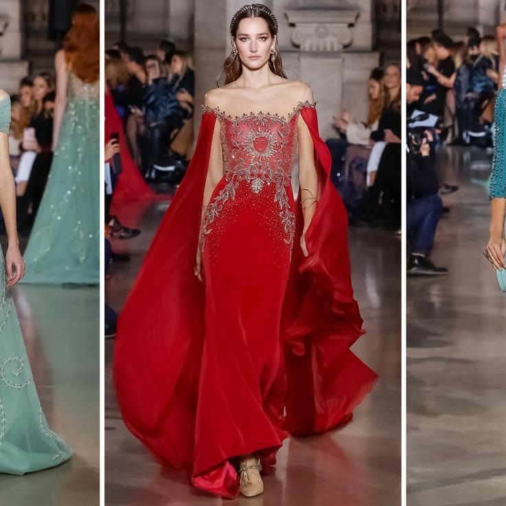 تصاميم رقيقة ومرهفة يقدمها جورج حبيقة للأزياء الراقية لموسم ربيع وصيف 2018