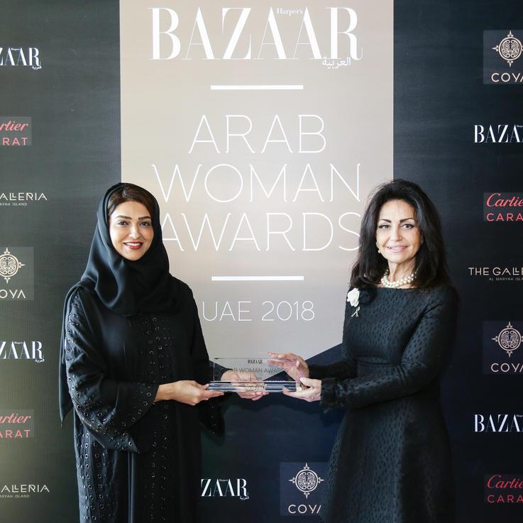المزيد من التكريم للفائزة بجائزة المرأة العربية نوال باز