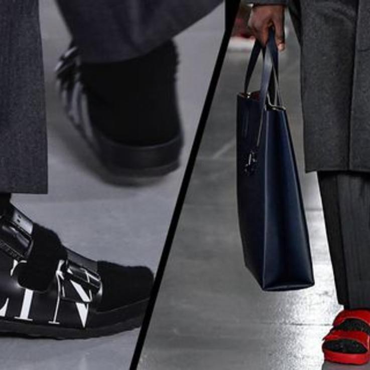 Valentino تحوّل أحذية Birkenstock المريحة إلى قطع أنيقة
