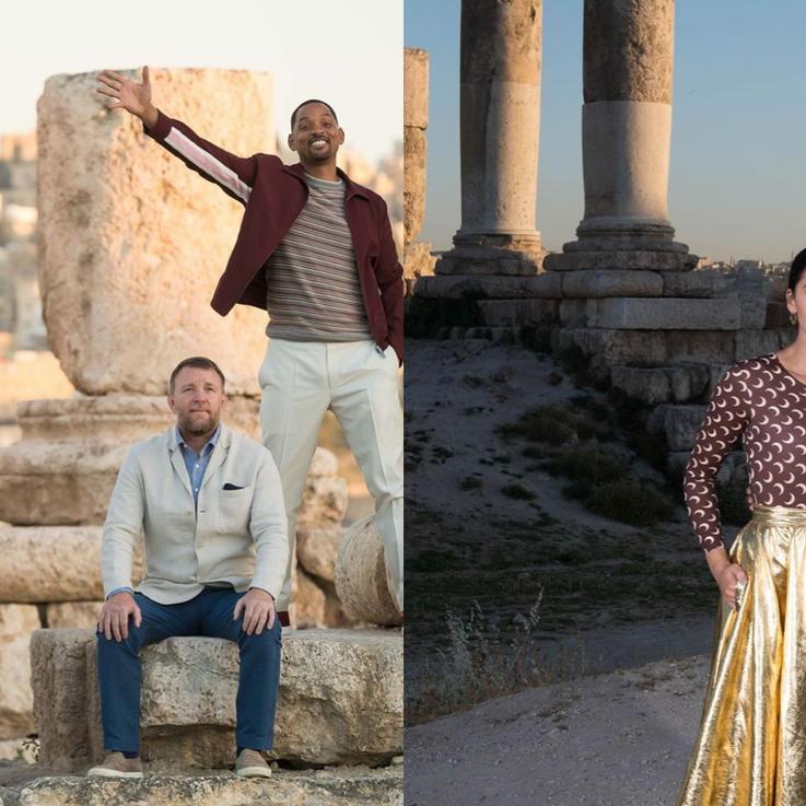 فريق ممثلي فيلم ديزني 'علاء الدين' يحط رحاله في الأردن