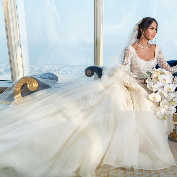 حفل زفاف فاخر بتكلفة 7 مليون درهم إماراتي في برج العرب