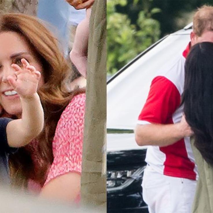 أجمل الصور للعائلة المالكة البريطانية خلال مباراة البولو