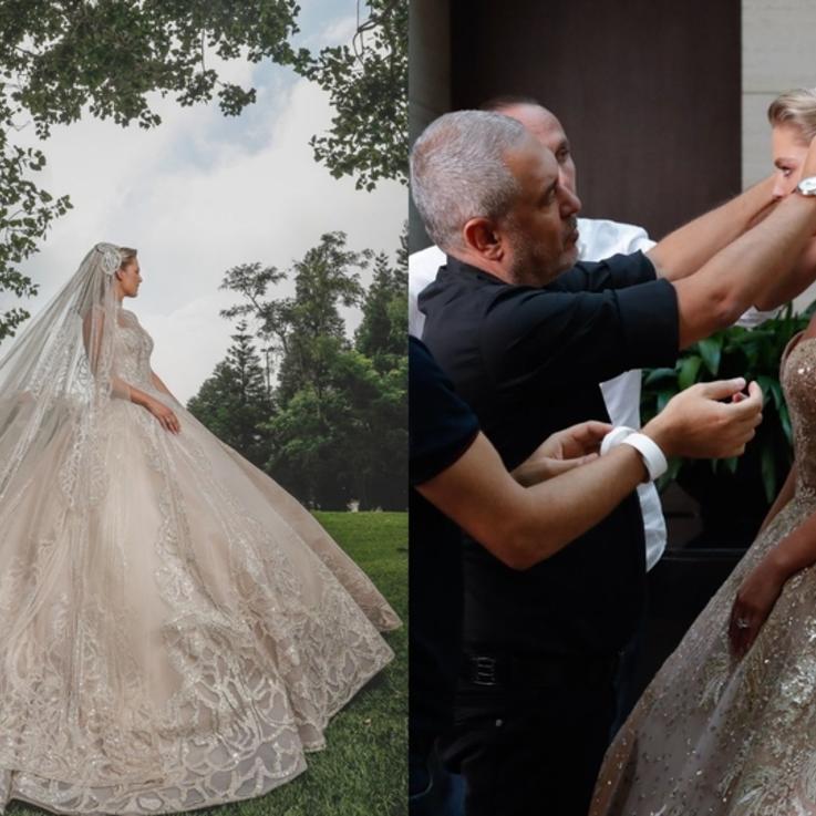 كل ما تريدين معرفته عن فستان عرس كريستينا مراد