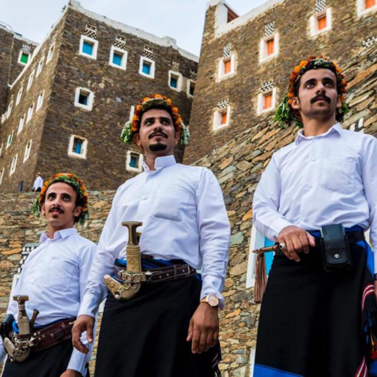 مهرجان رجال الطيب في منطقة عسير السعودية