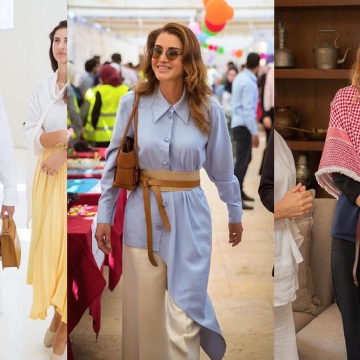 الملكة رانيا تتألق مجدداً بإطلالات خريفية لافتة..