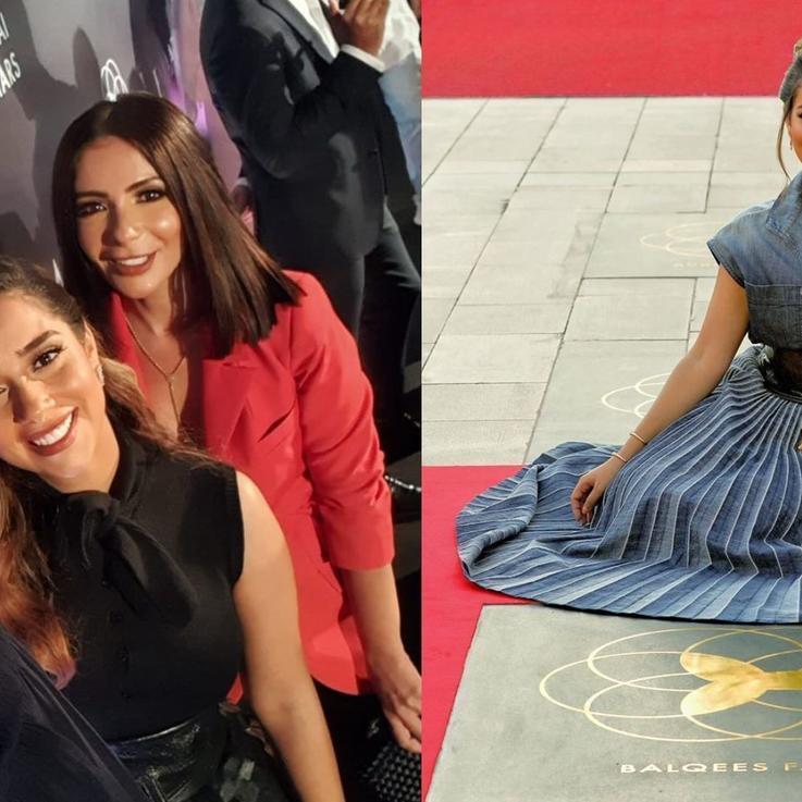 """دبي تفتتح رسمياً """"ممر المشاهير"""".. وبلقيس ومنى زكي وأحمد حلمي أول النجوم المكرّمين"""