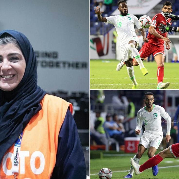 منال الدباغ  أول إعلامية سعودية تصور في الملاعب الرياضية