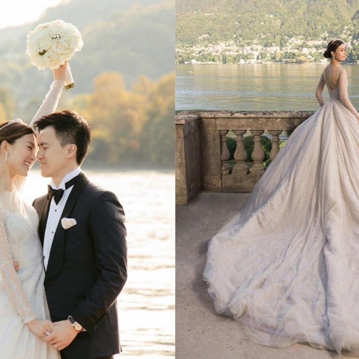 عارضة الأزياء العالمية جانيس تزف بفستان زفاف يحمل توقيع سعودي