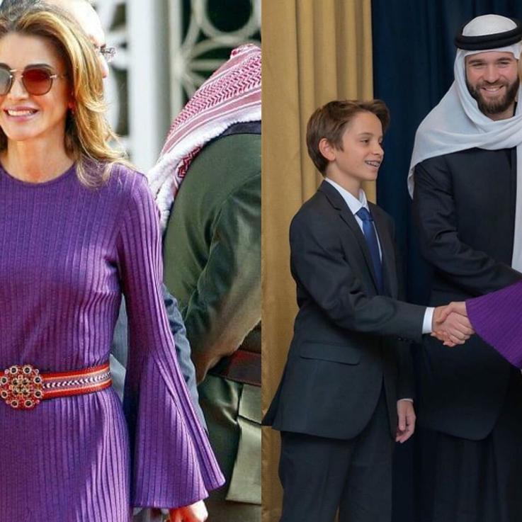 الملكة رانيا تلفت الأنظار في لون الموسم خلال خطاب العرش الأردني