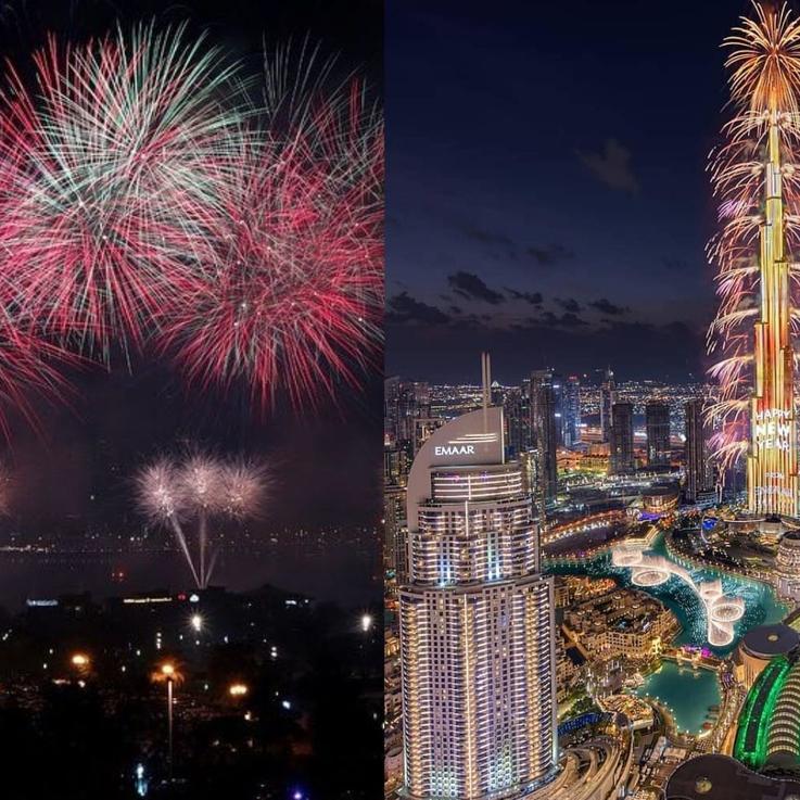 الإمارات العربية المتحدة تبهر العالم والملايين باحتفالات استقبال العام الجديد