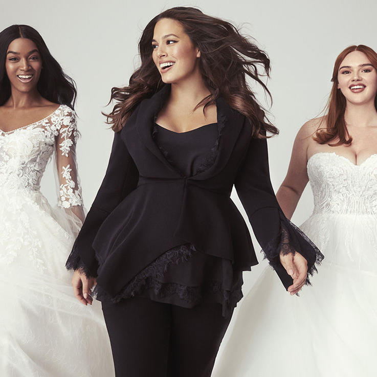 أشلي غراهام تطلق مجموعة من فساتين الزفاف شاملة المقاسات