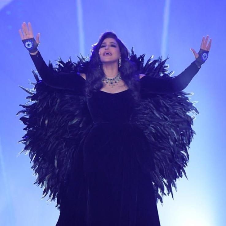 إطلالة أحلام في حفلها في الرياض تثير الضجة