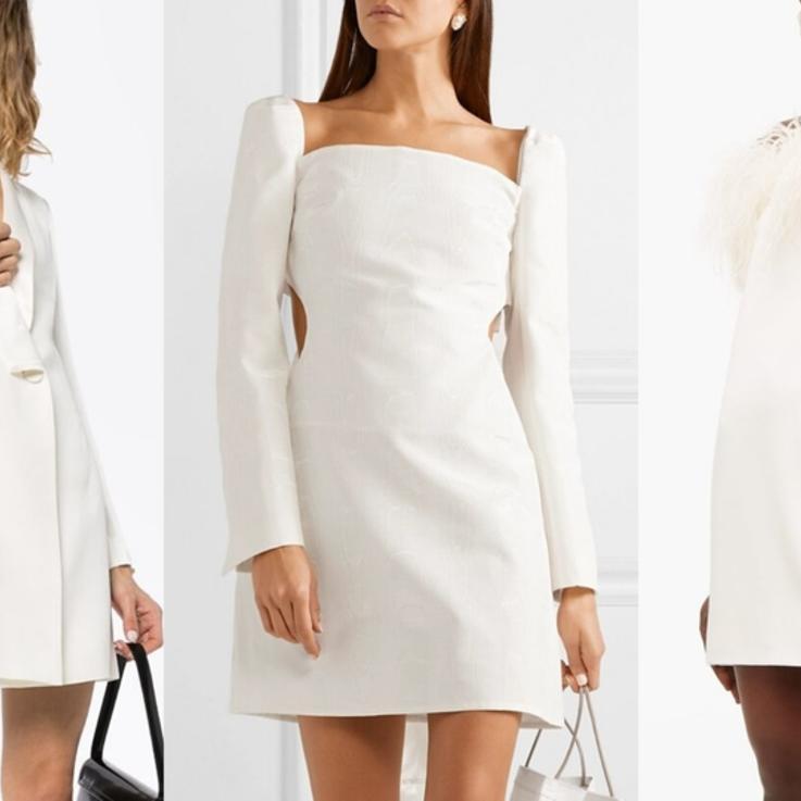 10 فساتين قصيرة بيضاء يمكنك إرتدائها في حفلات ما قبل زفافك