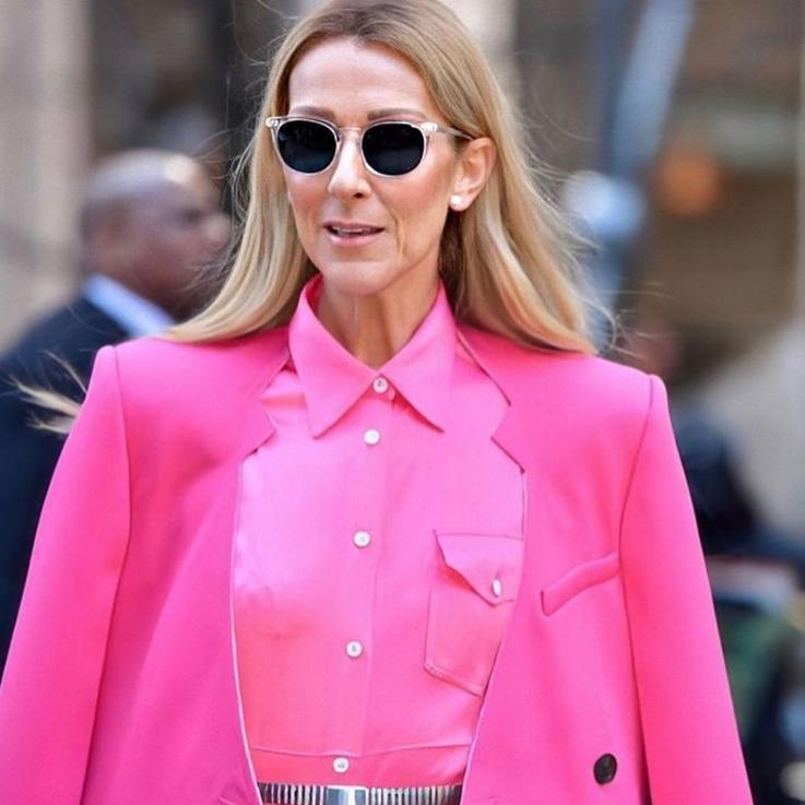 سيلين ديون تخرق قواعد الموضة وهي ترتدي تنورة مع سروال رائع