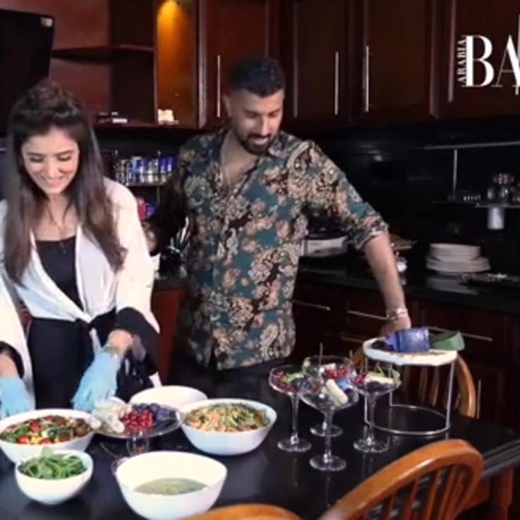 شاهدي مي عمر تعد الإفطار مع زوجها في هذه الحلقة من إفطار مع بازار