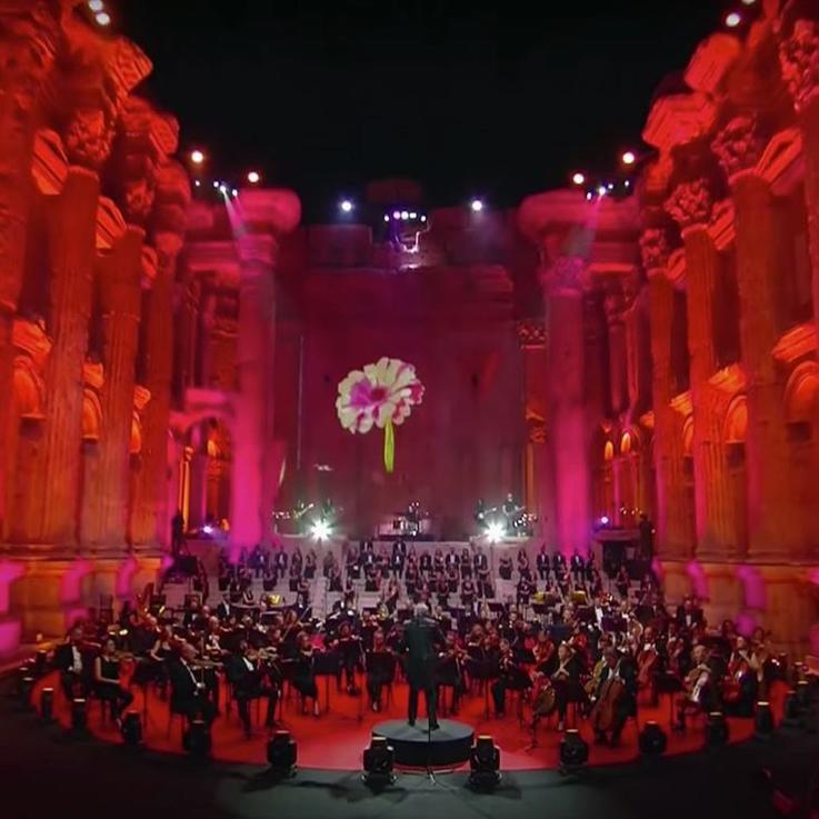 مهرجان بعلبك يرسل رسالة صمود ويقيم حفلة موسيقية ضخمة بدون جمهور